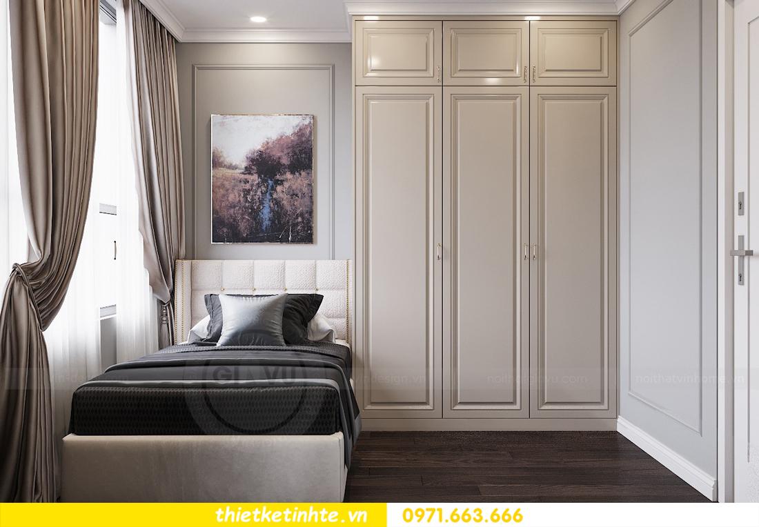 thiết kế nội thất chung cư 3 phòng ngủ căn C110 DCapitale 11