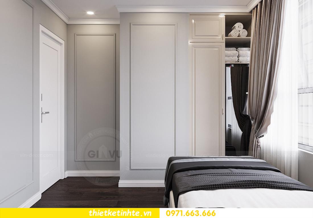 thiết kế nội thất chung cư 3 phòng ngủ căn C110 DCapitale 12