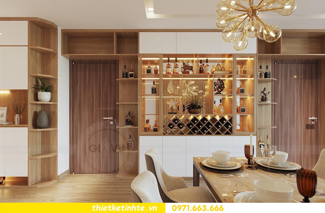 thiết kế nội thất chung cư 70m2 tại Vinhomes Metropolis 01