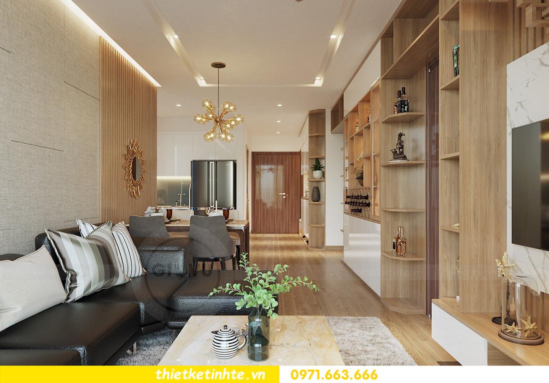 thiết kế nội thất chung cư 70m2 tại Vinhomes Metropolis 02