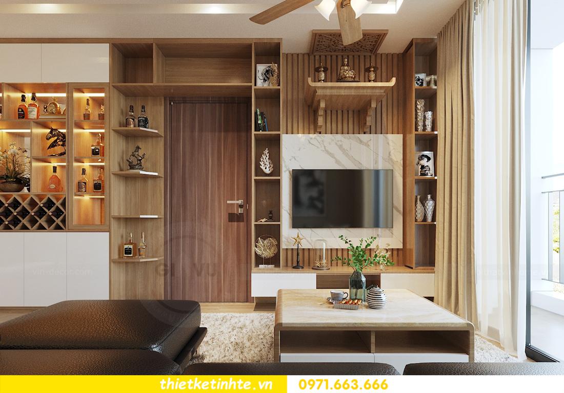 thiết kế nội thất chung cư 70m2 tại Vinhomes Metropolis 03