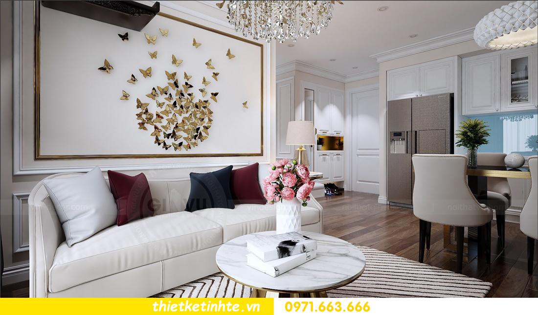 thiết kế nội thất chung cư cao cấp D Capitale tòa C1-02 nhà chị Hiên 01