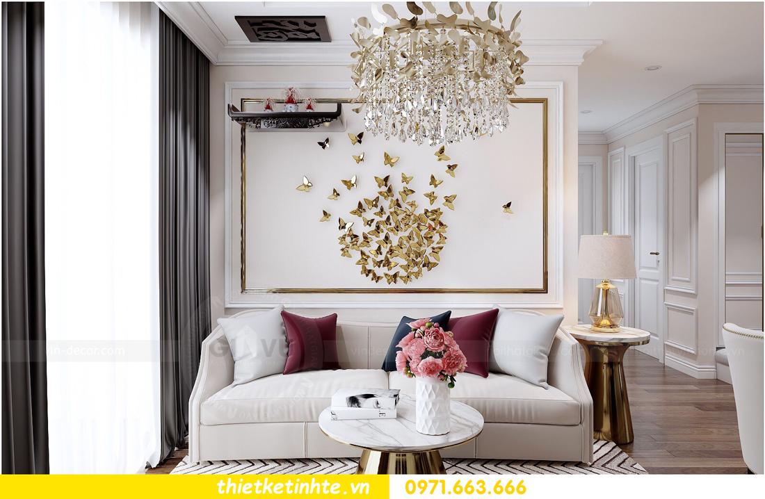 thiết kế nội thất chung cư cao cấp D Capitale tòa C1-02 nhà chị Hiên 02