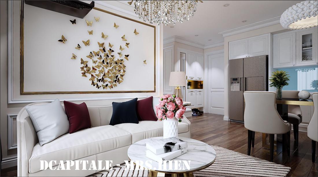 Thiết kế nội thất chung cư cao cấp D Capitale tòa C1-02 chị Hiên
