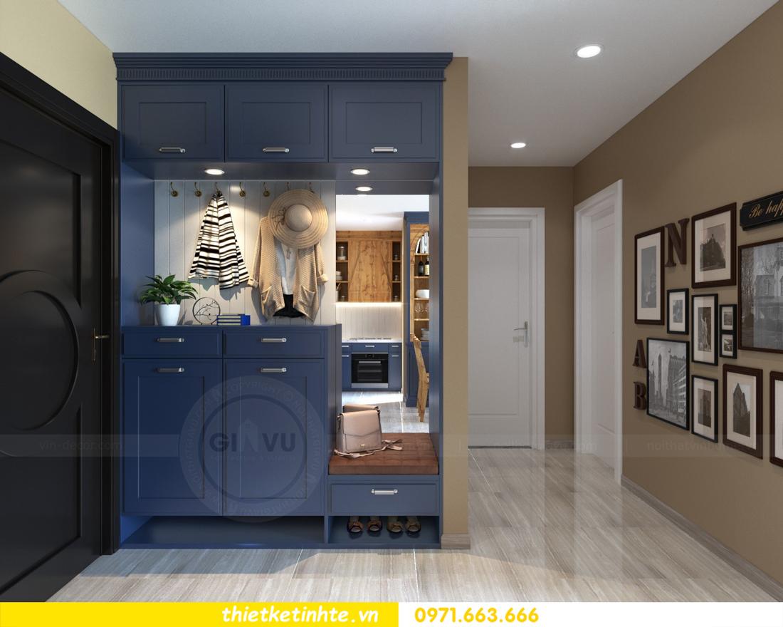 thiết kế nội thất chung cư theo phong cách Vintage nhà anh Tín 01
