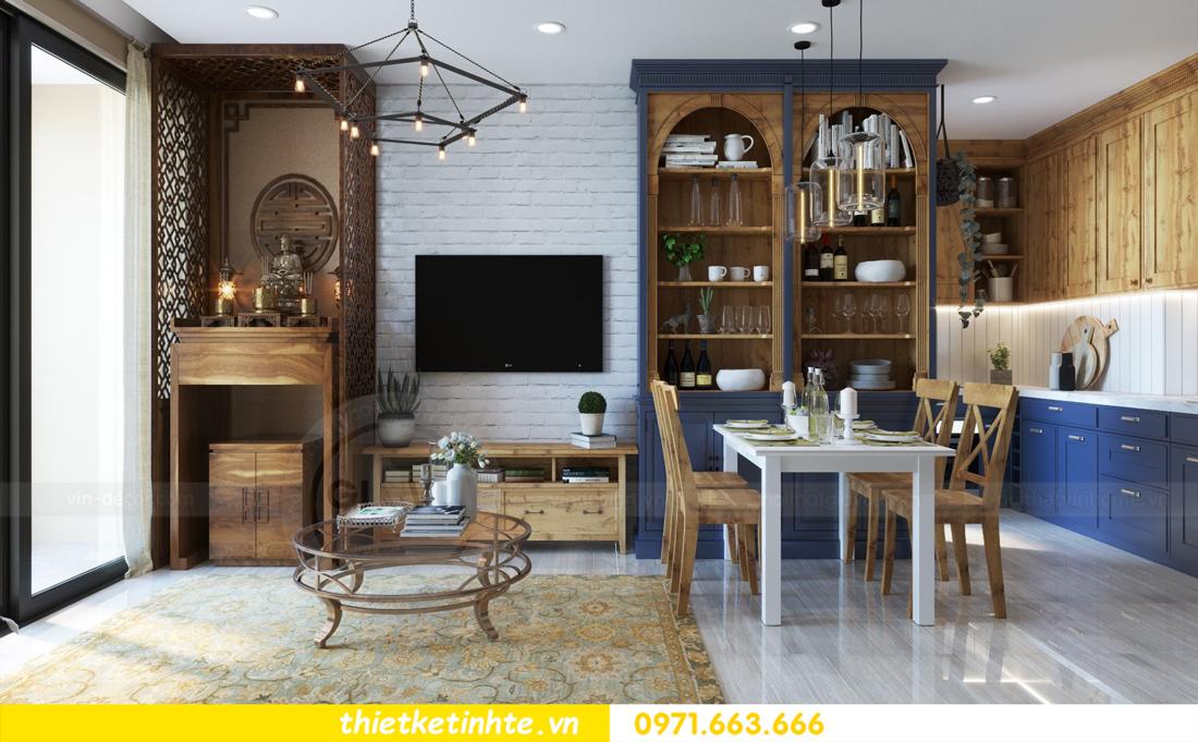 thiết kế nội thất chung cư theo phong cách Vintage nhà anh Tín 02