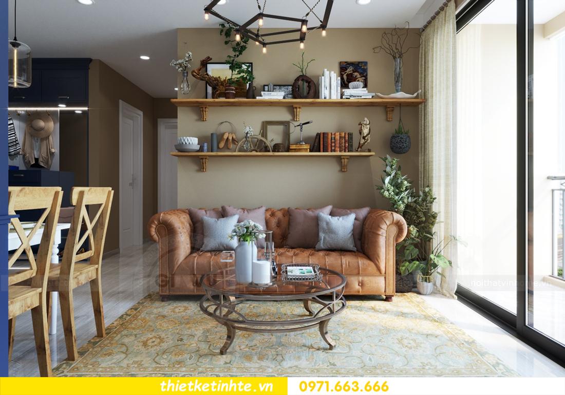 thiết kế nội thất chung cư theo phong cách Vintage nhà anh Tín 05