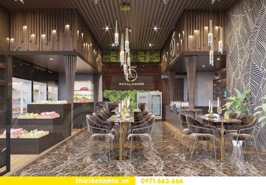 thiết kế nội thất Shophouse Green Bay nhà chị Yến 01