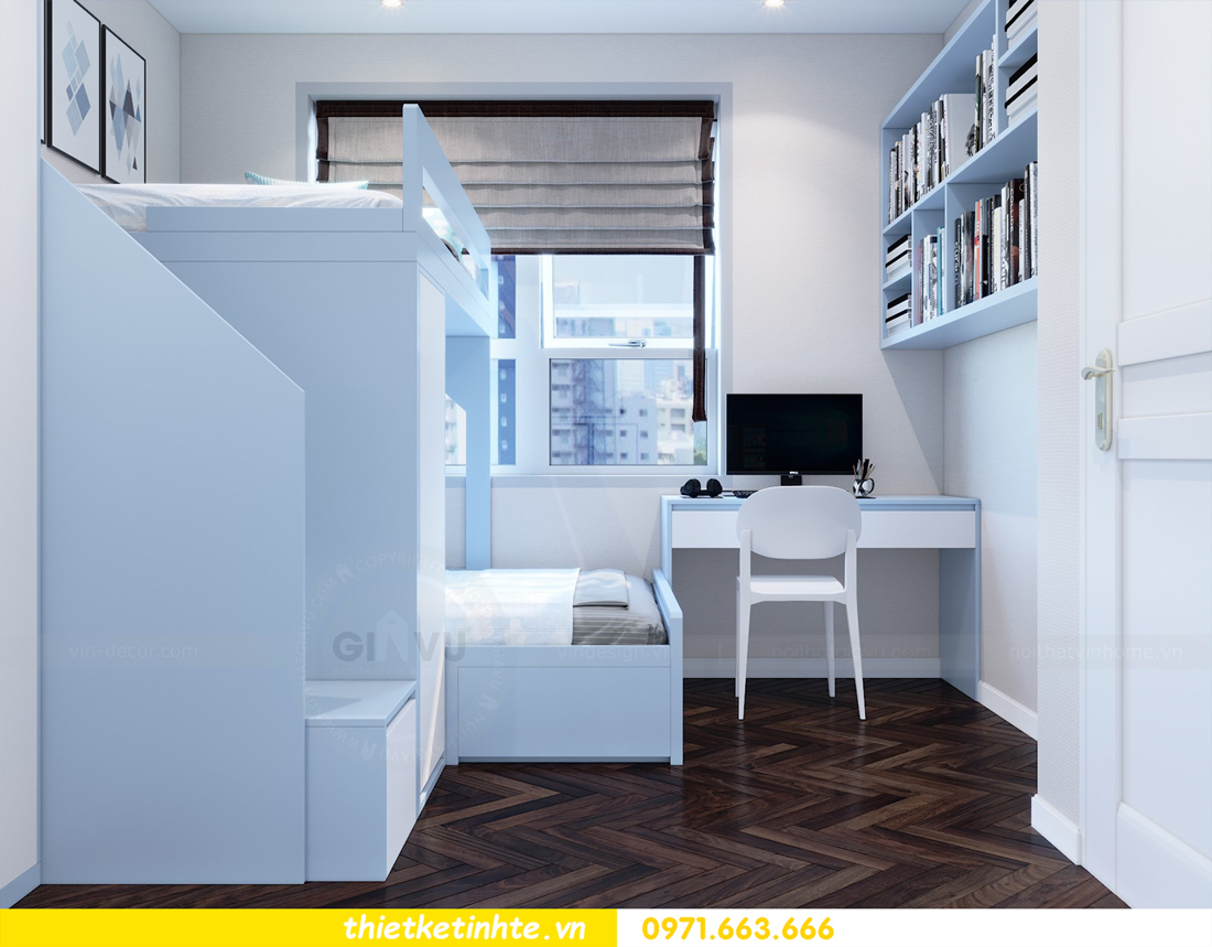 thiết kế nội thất tòa C1 căn hộ 08 Vinhomes D Capitale anh Hoài 11