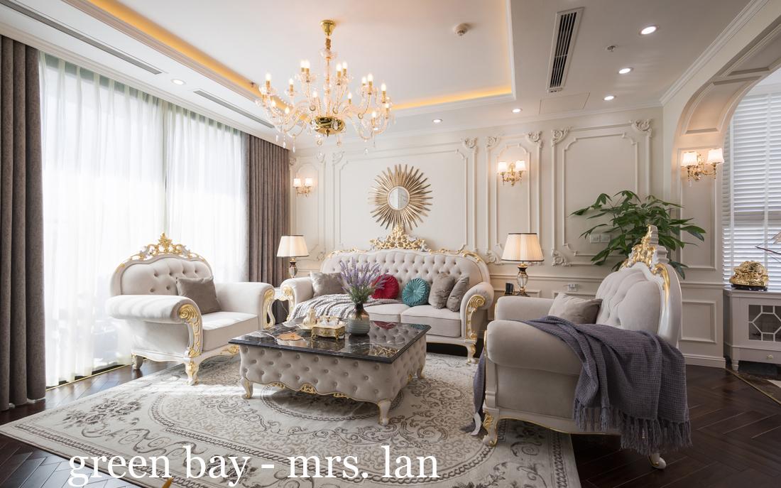 Thi công hoàn thiện nội thất chung cư cao cấp Vinhomes Green Bay