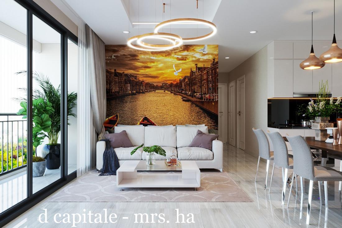 Nội thất chung cư cao cấp Vinhomes D Capitale căn C312 – chị Hà