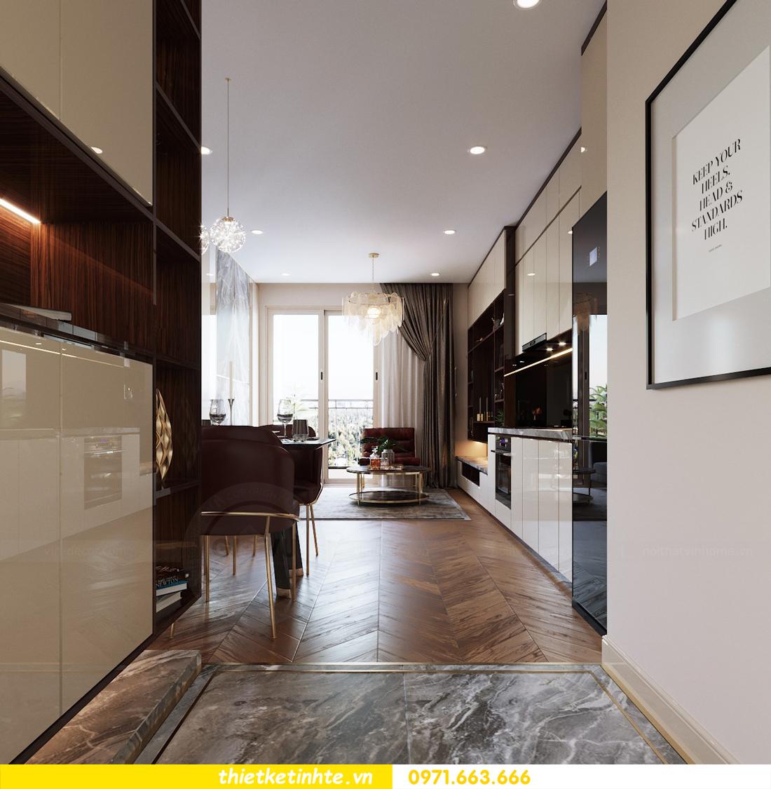 mẫu thiết kế nội thất chung cư 2 phòng ngủ nhỏ đẹp hiện đại 2