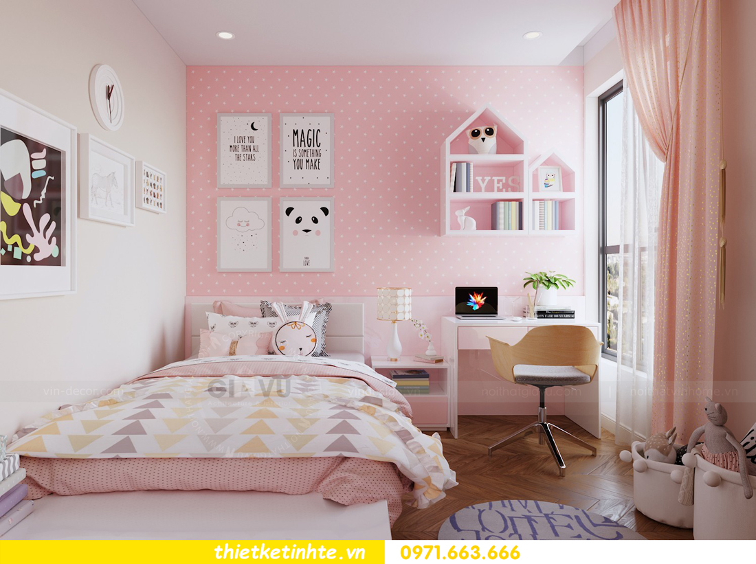 mẫu thiết kế nội thất chung cư 2 phòng ngủ nhỏ đẹp hiện đại 8