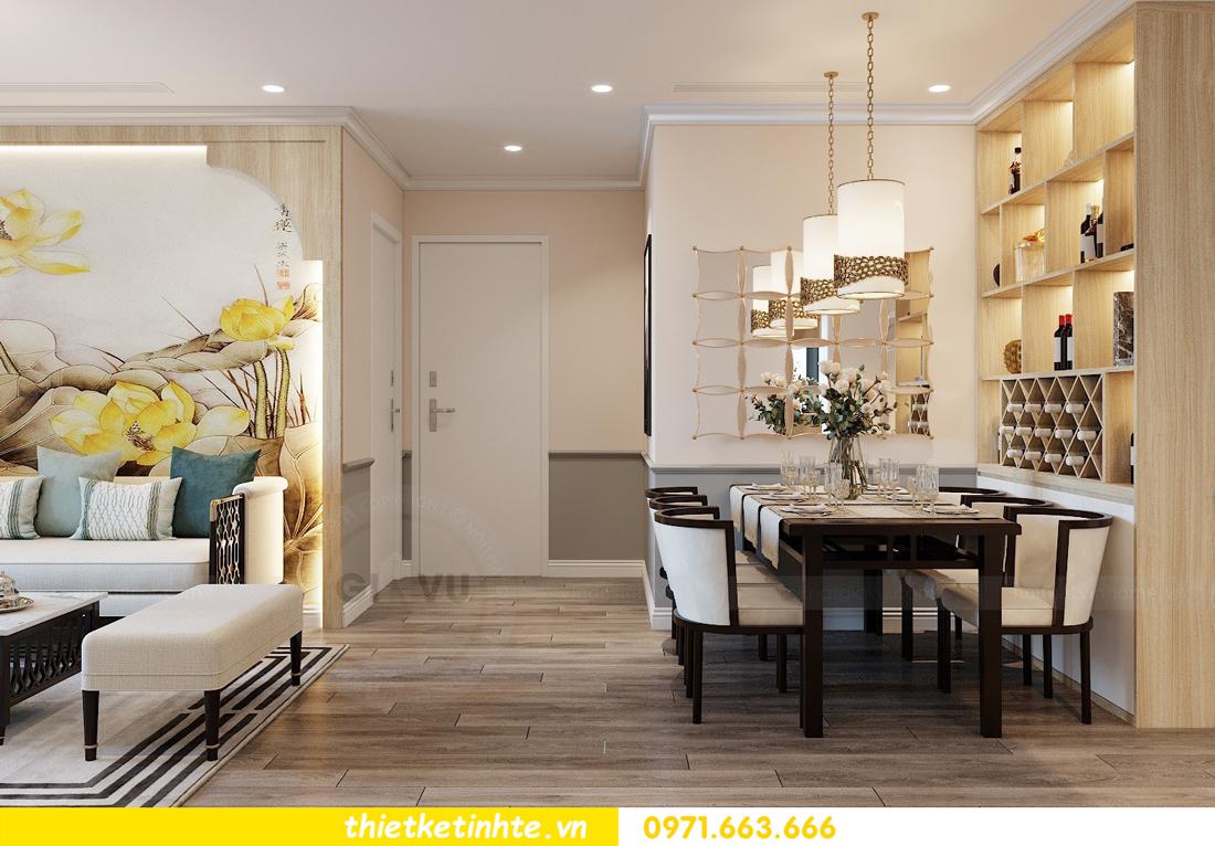 Thiết kế nội thất Á Đông tại chung cư Sky Lake tòa S3 căn 28 View 3