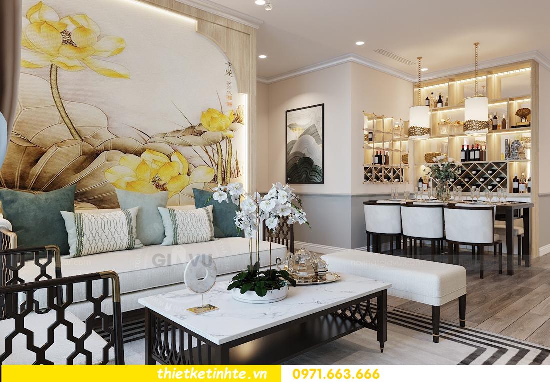 Thiết kế nội thất Á Đông tại chung cư Sky Lake tòa S3 căn 28 View 4
