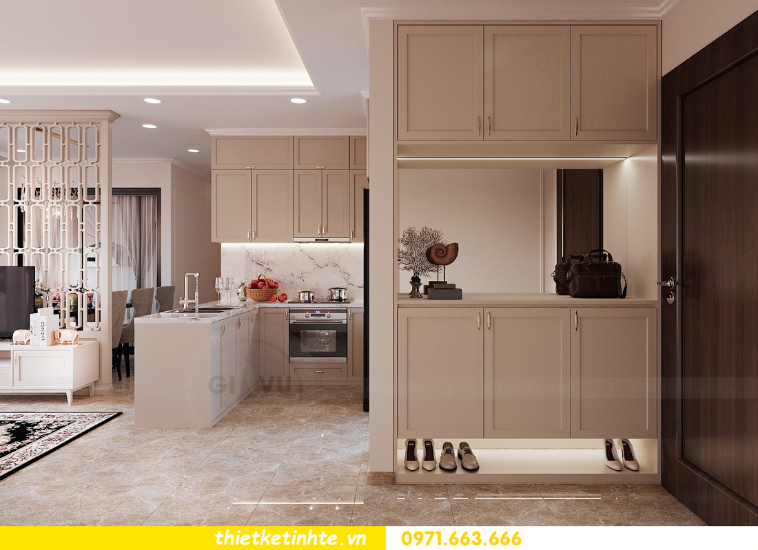 thiết kế nội thất căn 3 ngủ tòa C602 DCapitale 01