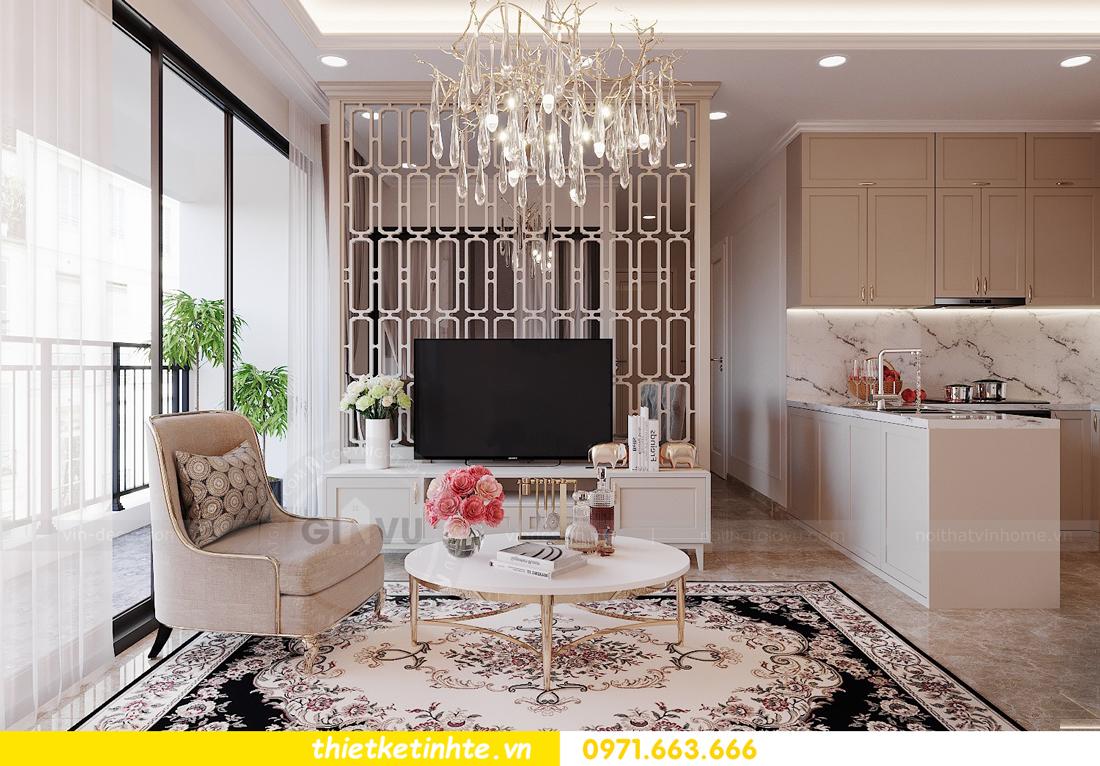 thiết kế nội thất căn 3 ngủ tòa C602 DCapitale 05