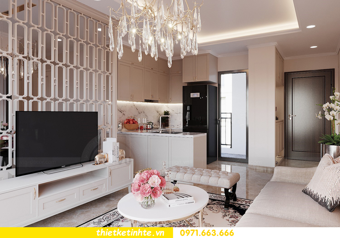 thiết kế nội thất căn 3 ngủ tòa C602 DCapitale 07