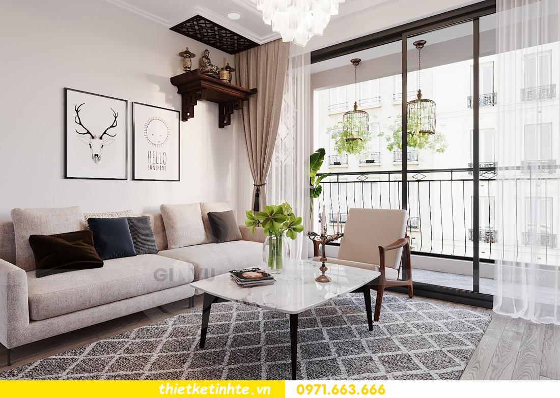 thiết kế nội thất căn hộ 3 phòng ngủ C103 Vinhomes DCapitale cô Lan 2
