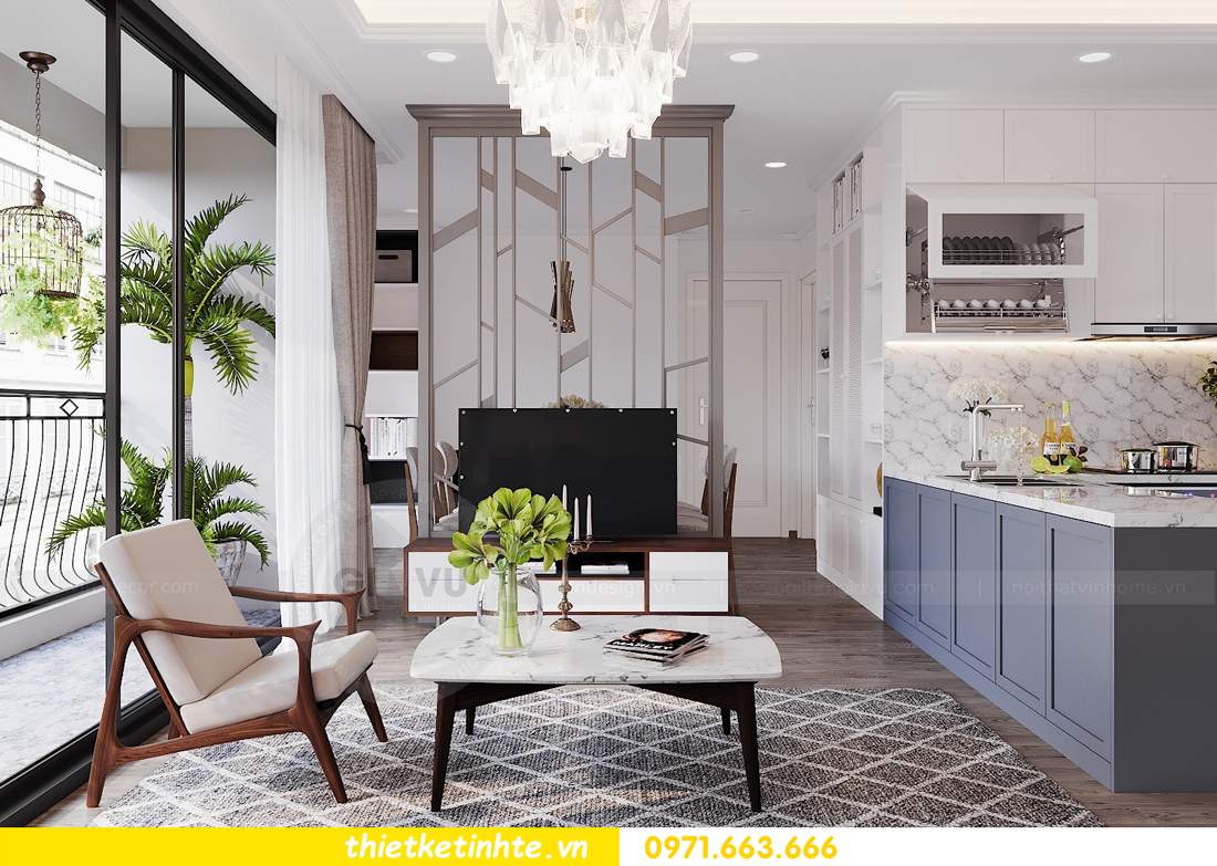 thiết kế nội thất căn hộ 3 phòng ngủ C103 Vinhomes DCapitale cô Lan 3