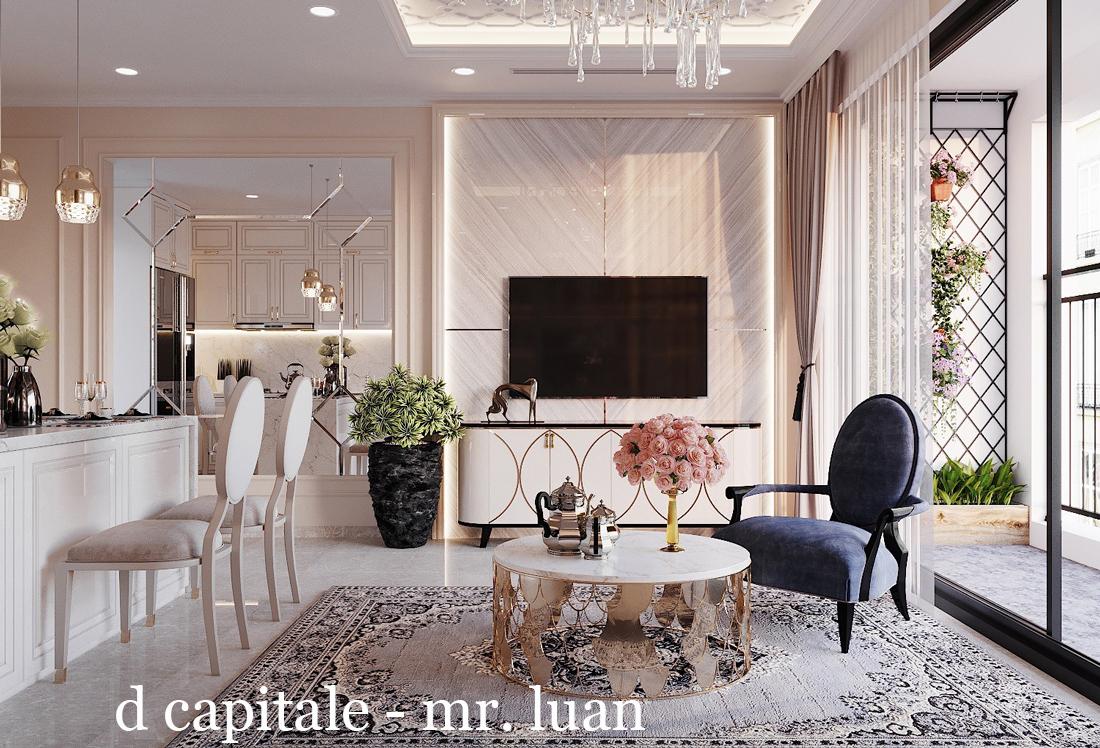 Thiết kế nội thất chung cư 83m2 3 phòng ngủ Vinhomes DCapitale