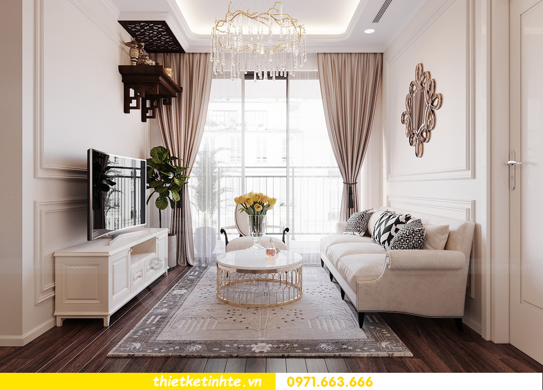 thiết kế nội thất chung cư DCapitale tòa C3 căn 02 nhà cô Lệ 04