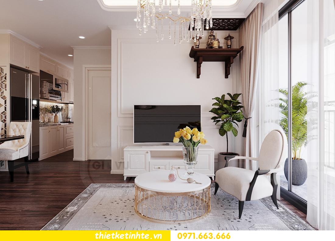 thiết kế nội thất chung cư DCapitale tòa C3 căn 02 nhà cô Lệ 05