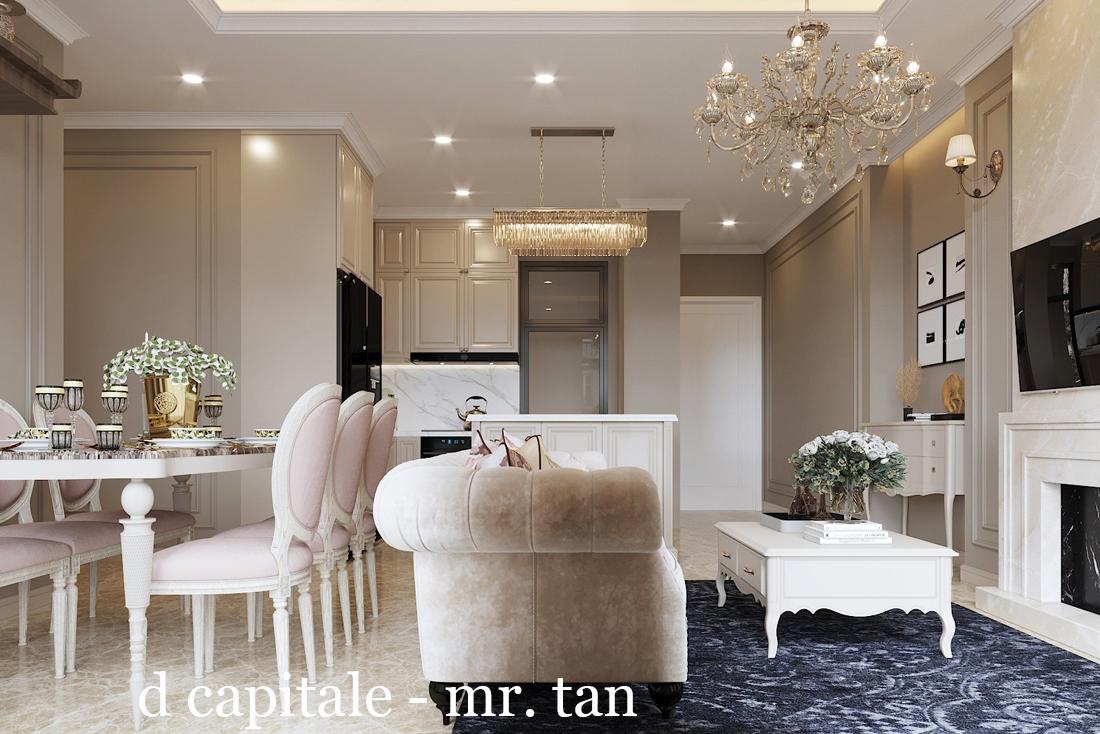 Thiết kế nội thất chung cư tân cổ điển tại Vinhomes DCapitale