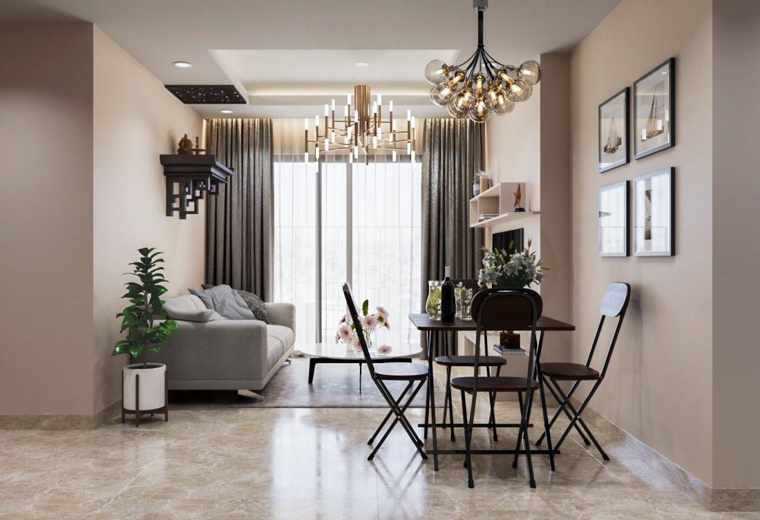 Thiết kế nội thất chung cư tối giản tòa C6 căn 04 Vinhomes DCapiale