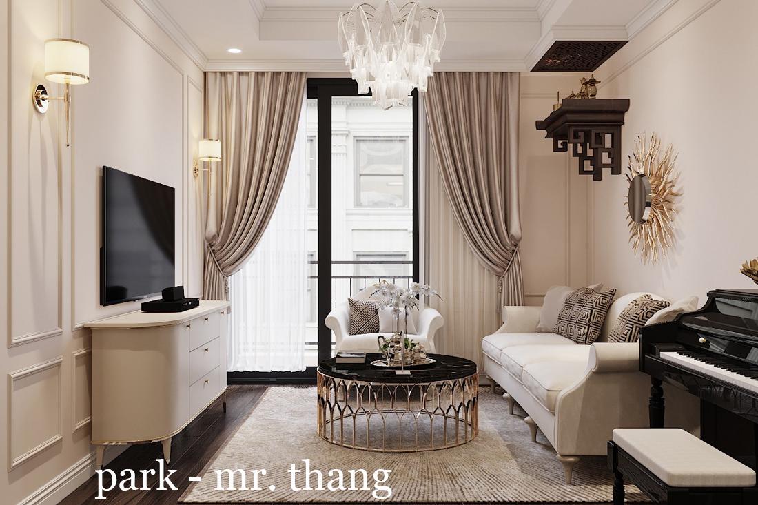 Thiết Kế Nội Thất Luxury Tại Chung Cư Park Hill Nhà Anh Thắng