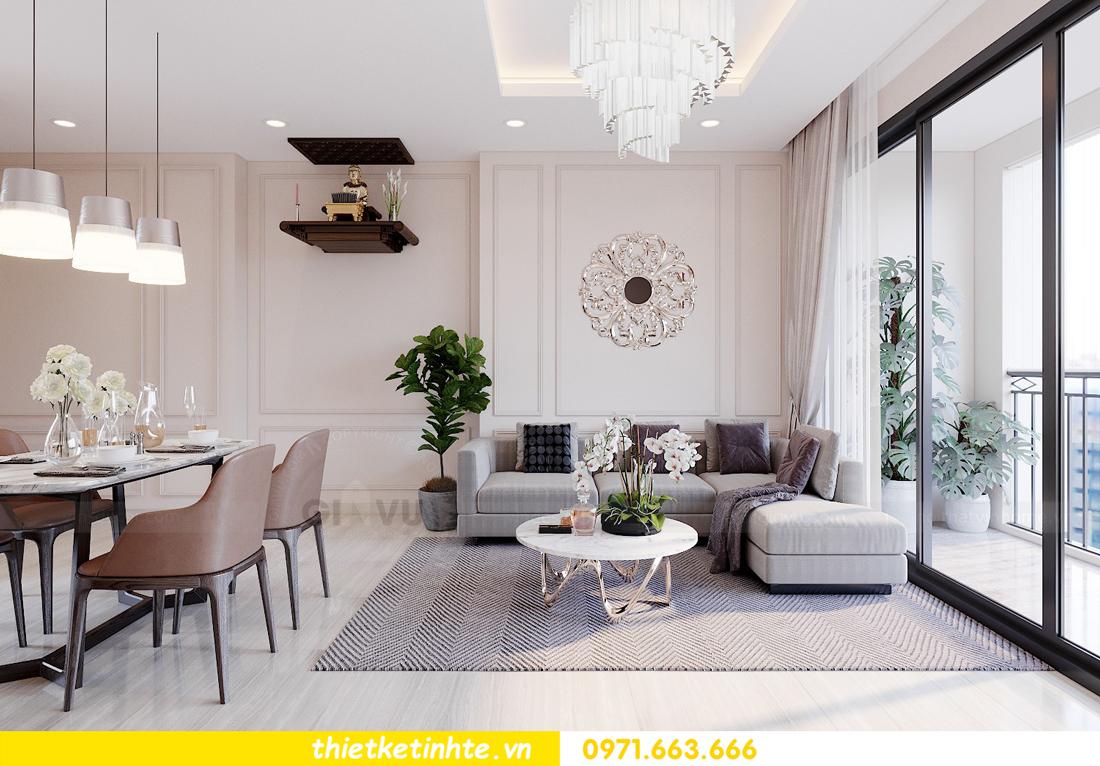 mẫu thiết kế nội thất chung cư 2 phòng ngủ đẹp sang trọng 3