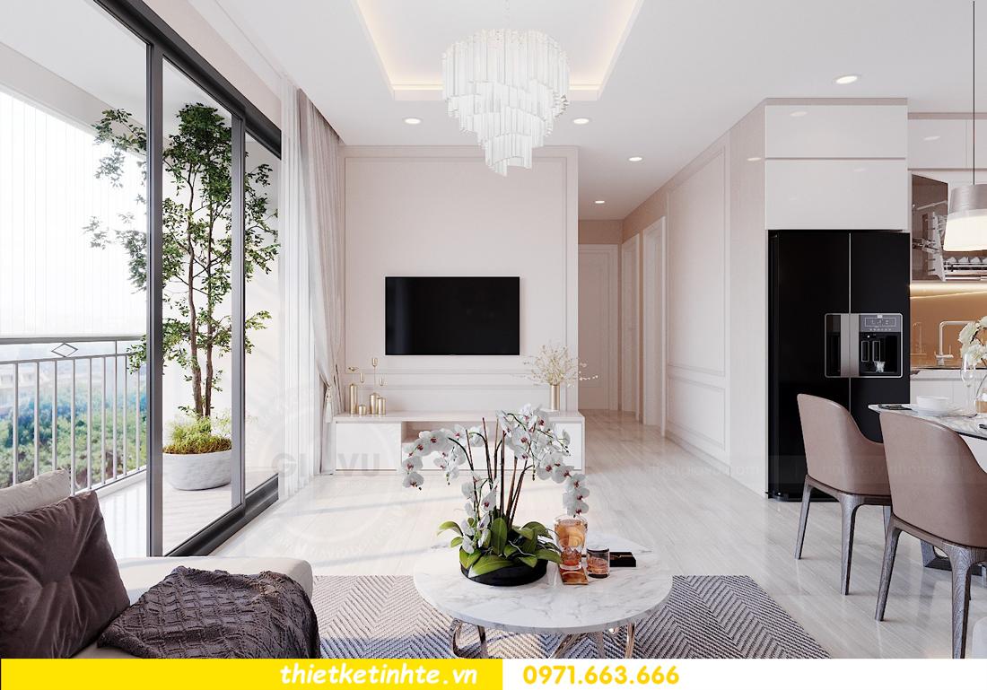 mẫu thiết kế nội thất chung cư 2 phòng ngủ đẹp sang trọng 4