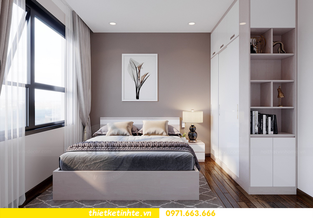 mẫu thiết kế nội thất chung cư 2 phòng ngủ đẹp sang trọng 8