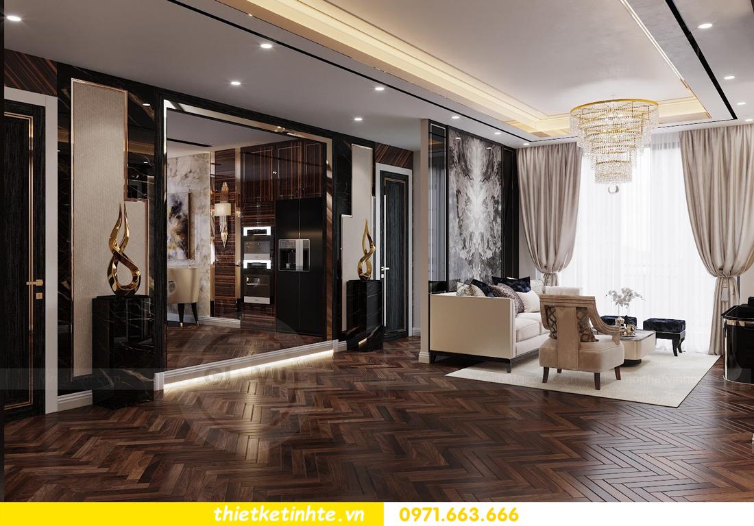 thiết kế nội thất chung cư cao cấp tinh tế tới từng nét vẽ 2