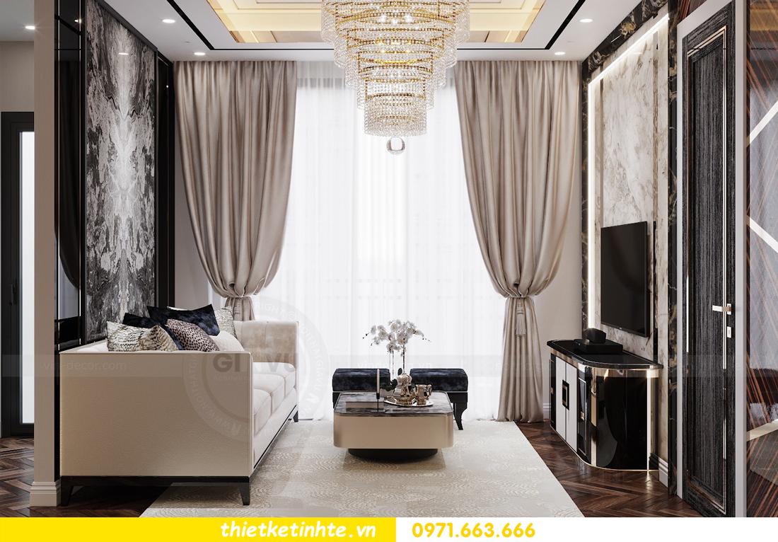 thiết kế nội thất chung cư cao cấp tinh tế tới từng nét vẽ 3
