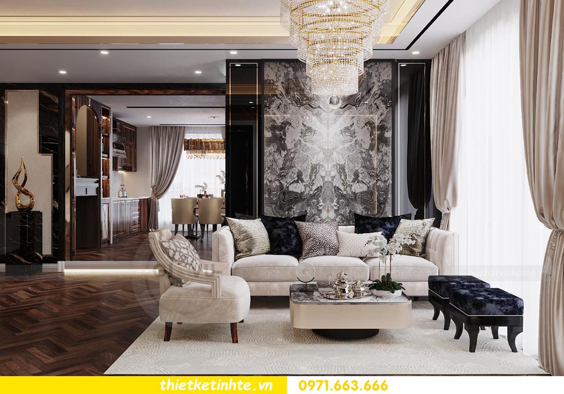 thiết kế nội thất chung cư cao cấp tinh tế tới từng nét vẽ 4