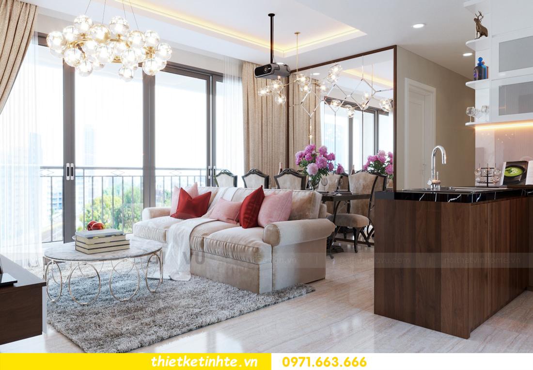 thiết kế nội thất chung cư DCapitale tòa C3 căn hộ 09 3