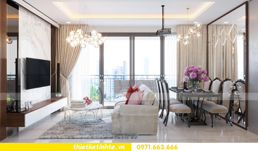 thiết kế nội thất chung cư DCapitale tòa C3 căn hộ 09 4