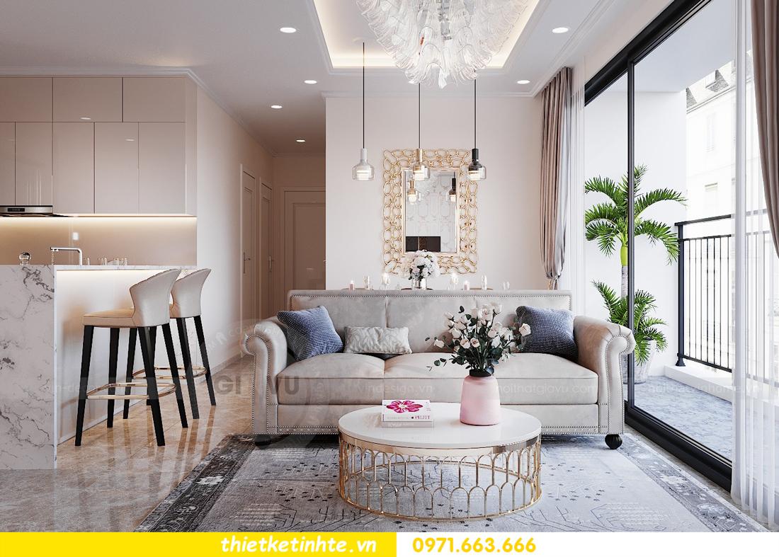 thiết kế nội thất chung cư DCapitale tòa C6 căn 09 nhà anh Kim 03