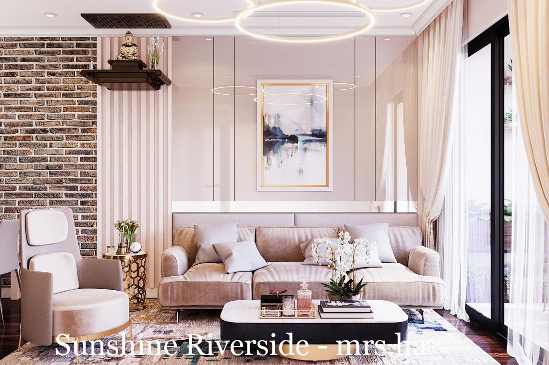 Thiết Kế Nội Thất Chung Cư Sunshine Riverside Tây Hồ – Chị Hà