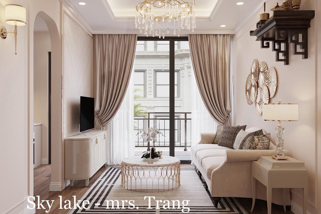 Thiết Kế Nội Thất Chung Cư Skylake Theo Phong Cách Luxury Căn S1-08