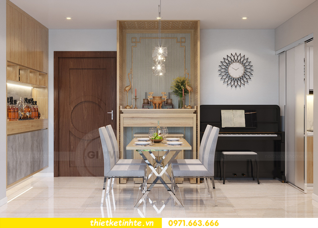 thiết kế nội thất tòa C7 căn 05 chung cư D Capitale 2