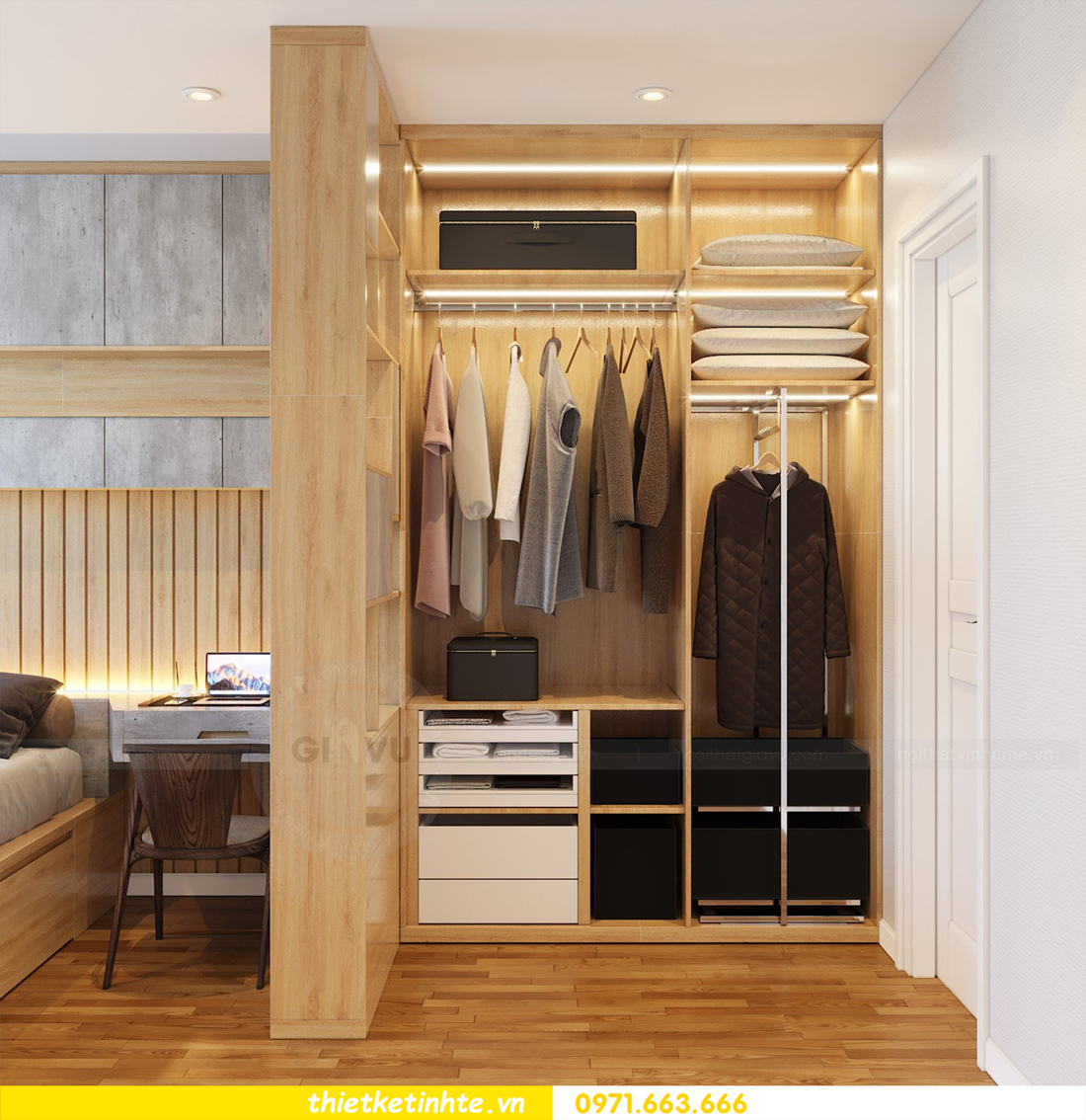 thiết kế nội thất tòa C7 căn 05 chung cư D Capitale 8