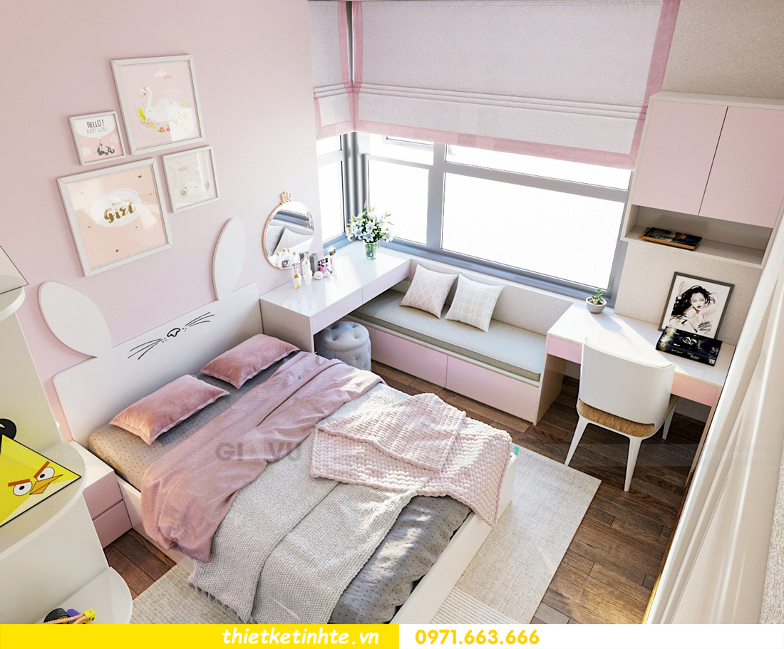 thiết kế thi công nội thất chung cư hiện đại DCapitale tòa C7 căn 09 9