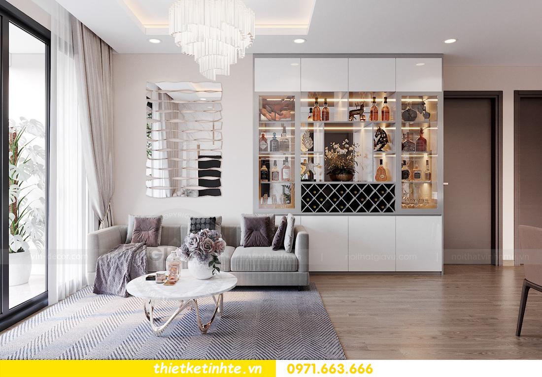 thiết kế thi công nội thất chung cư Sky Lake tòa S3 căn 14 nhà chị Văn 03