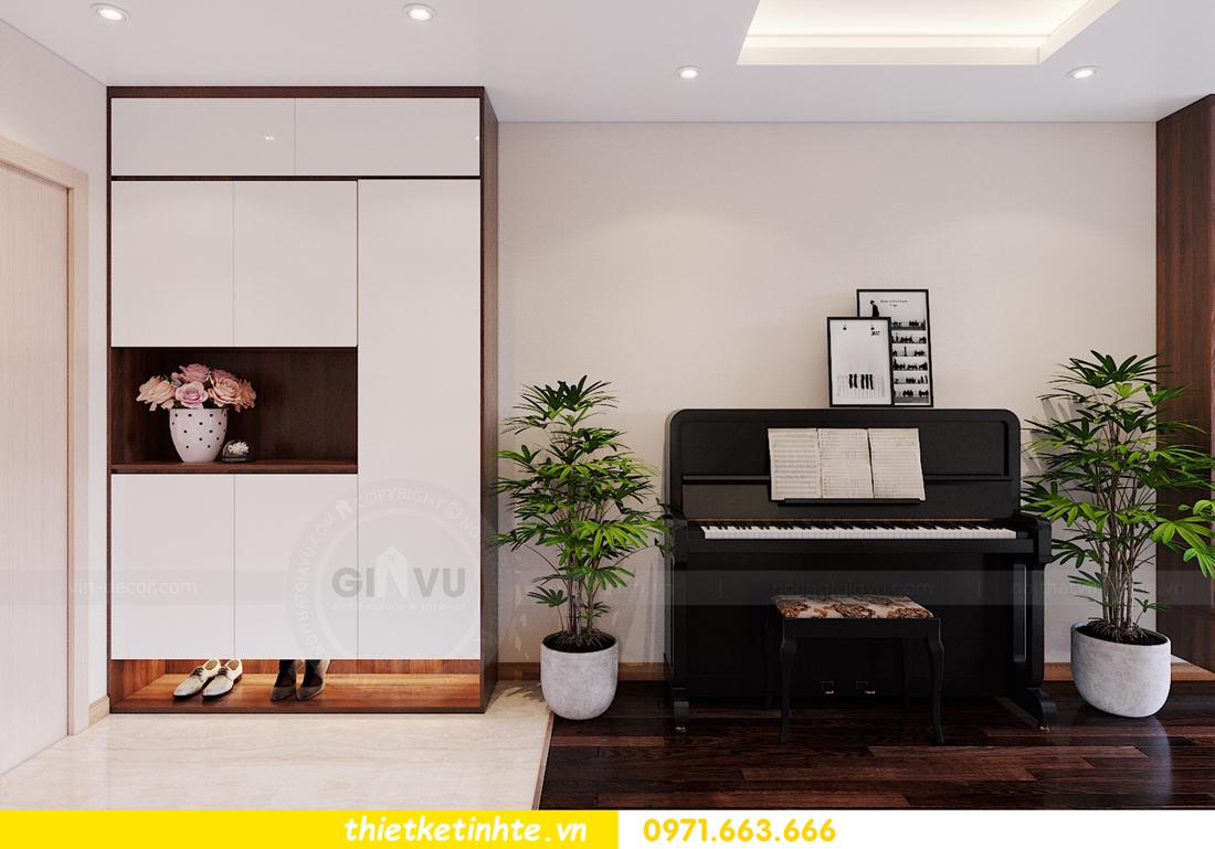 thiết kế thi công nội thất chung cư Skylake căn 2 ngủ 01