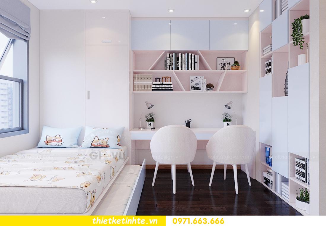 thiết kế thi công nội thất chung cư Skylake căn 2 ngủ 12