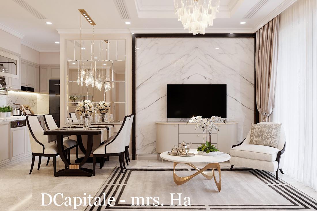 Thiết kế nội thất chung cư DCapitale Tân Hoàng Minh C3 căn hộ 11