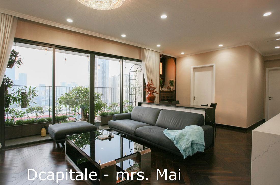 Thi công nội thất chung cư hiện đại C3 căn 12B06 DCapitale chị Mai