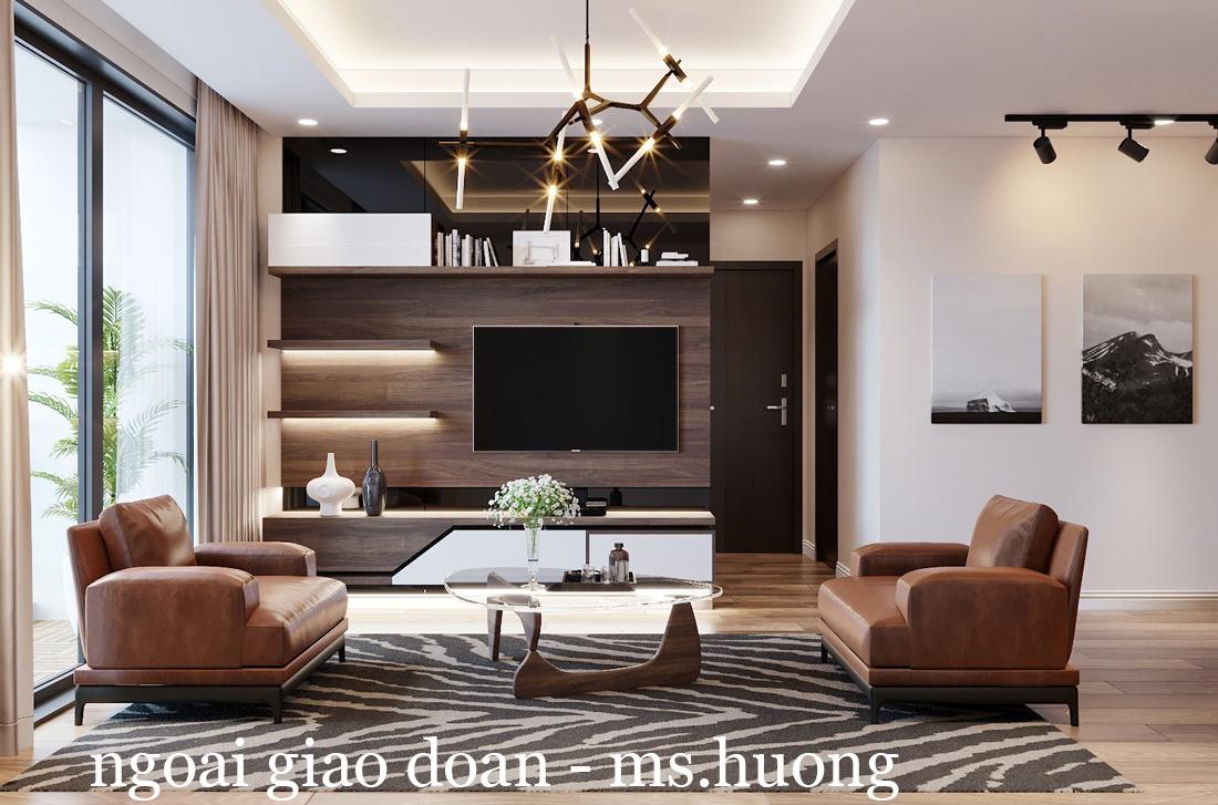 Thiết kế nội thất chung cư Ngoại Giao Đoàn N01-T4 căn 2306